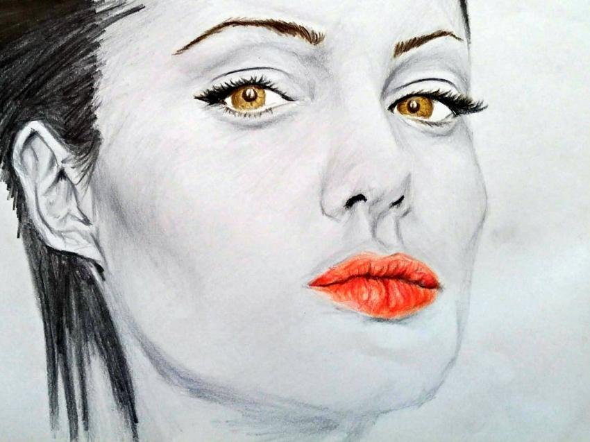 Angelina Jolie by linshyhchyang